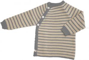maglia di lana righe grigie
