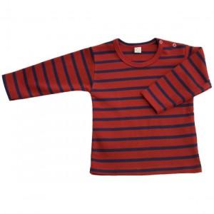 maglia manica lunga rossa e blu