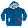 felpa blu con cappuccio cotone bio bambino