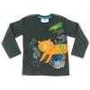 maglietta nera con tigre cotone bio bambino