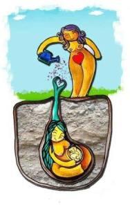 doula coltiva la madre